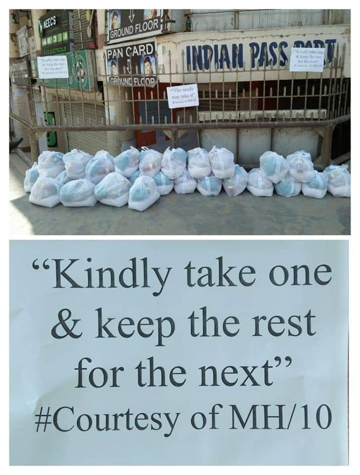 Pandemic Solidarity: Anonymous donor keeps food packages for needy in Kohima