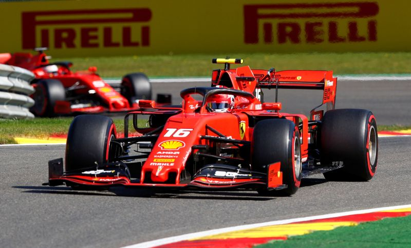 Belgian GP: Vettel leads the way as Ferrari dominate opening practice