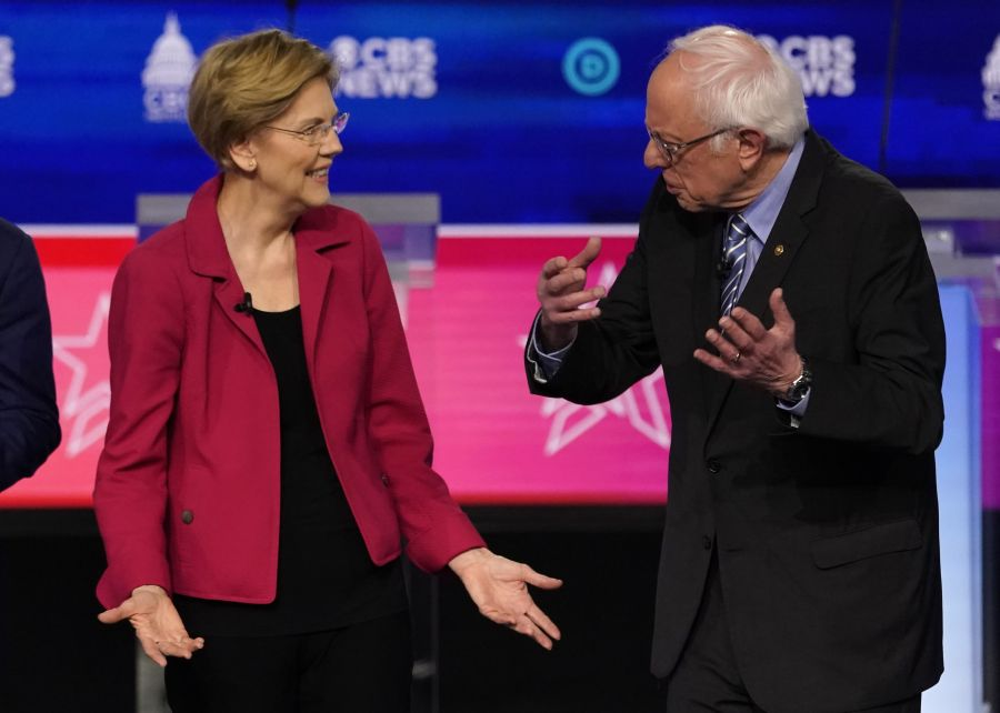 At rowdy debate, Democratic rivals warn Sanders nomination would be 'catastrophe'