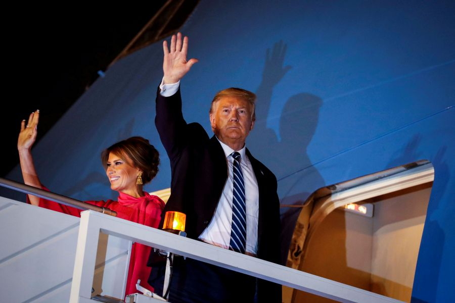 Trump returns to U.S. as country warily eyes spread of coronavirus