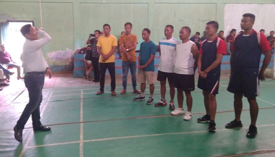 7th inter dept badminton tourney at Pughoboto begins