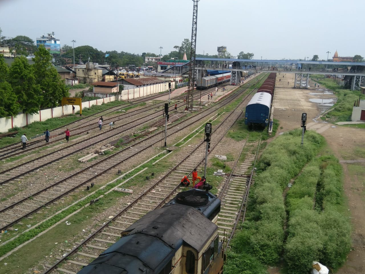 Shrinking railway land in Dimapur forced double-track diversion to Assam