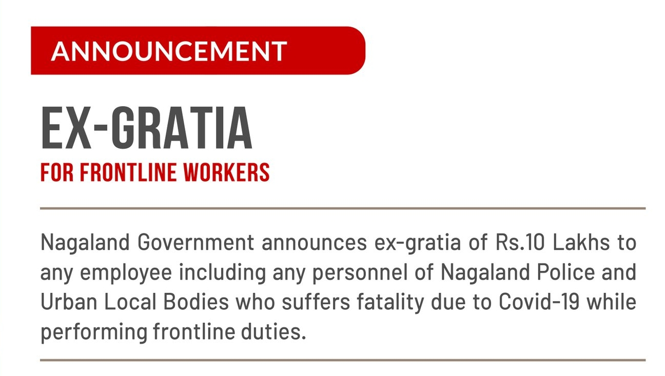 Rs 10 lakh for fatalities of frontline workers