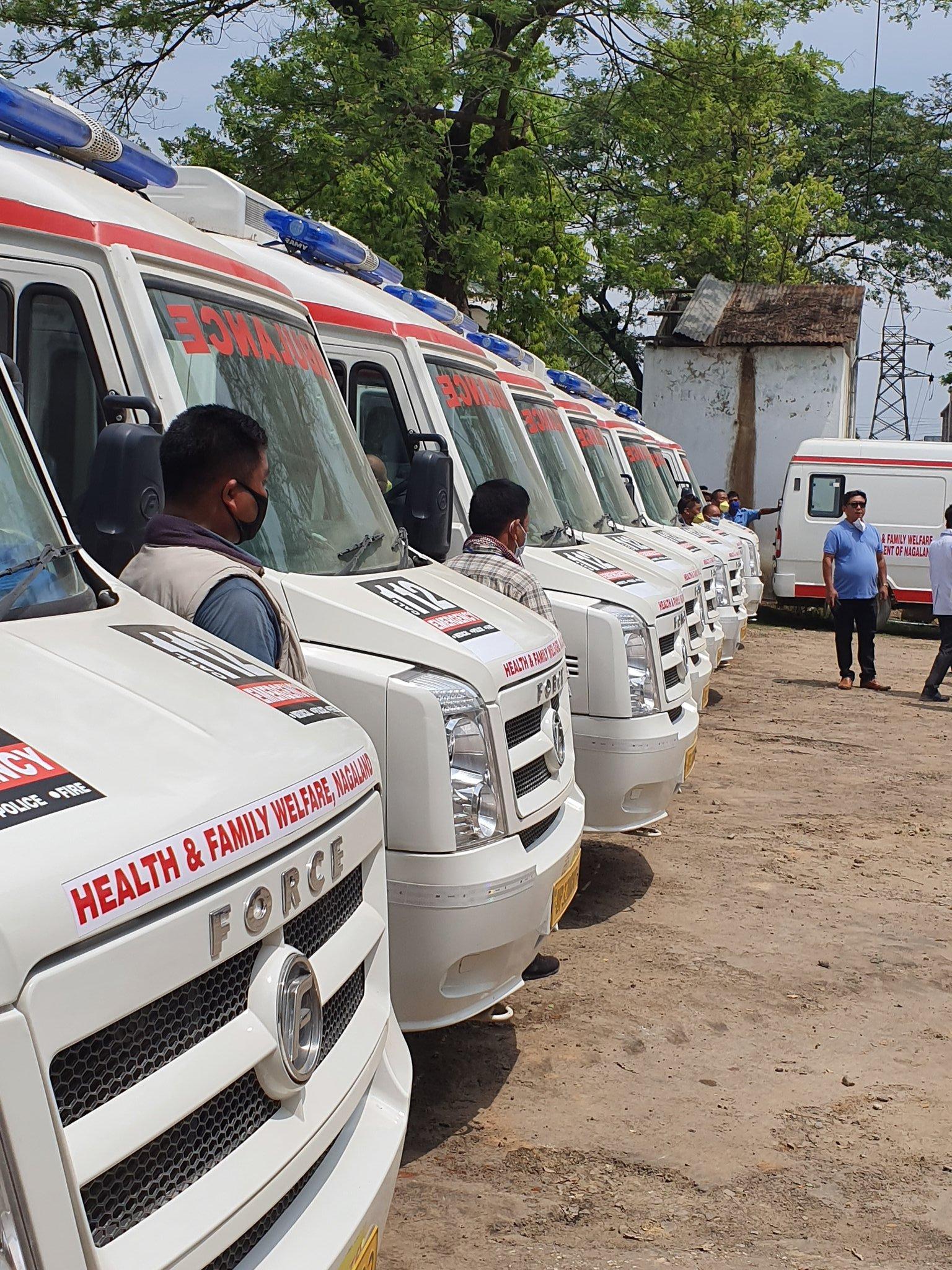 Nagaland:  10 new ambulances