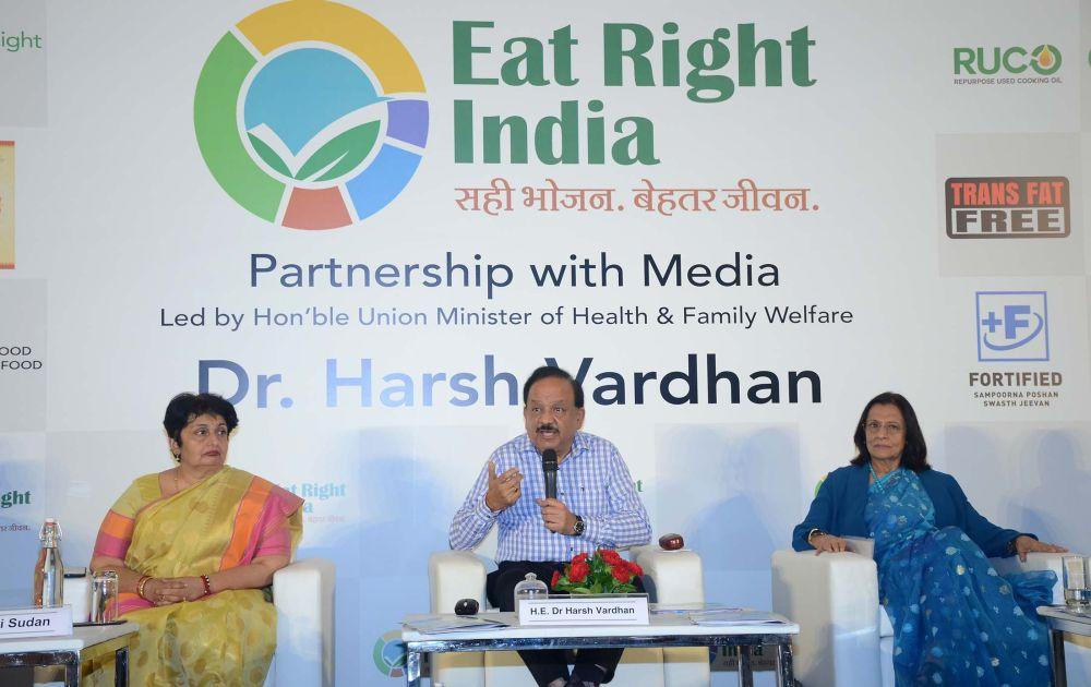 Harsh Vardhan stresses healthy eating, sustainable living