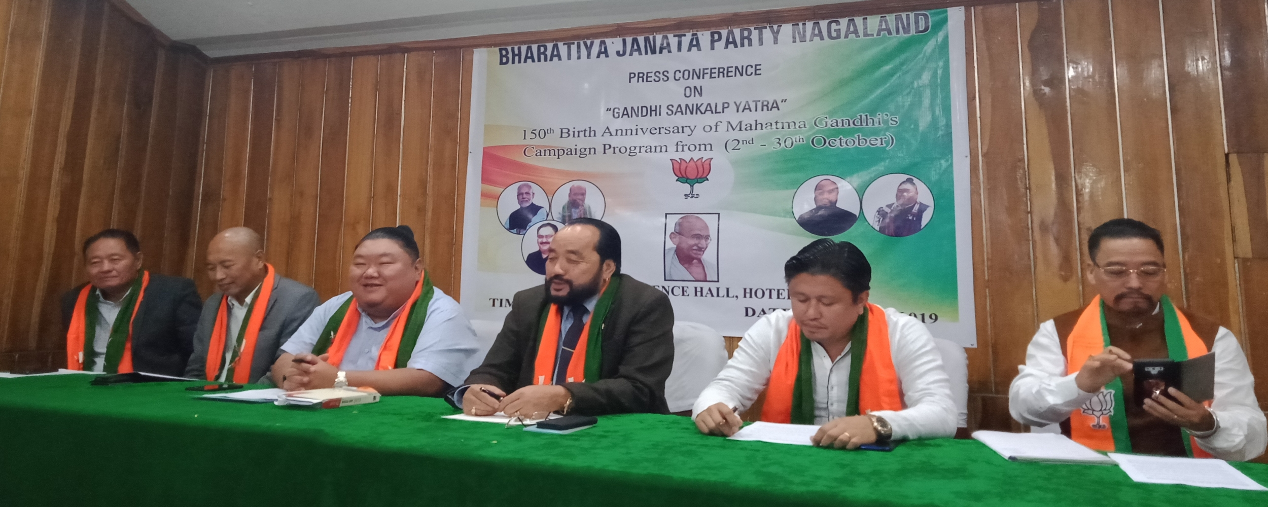 Nagaland State BJP leaders at the press conference