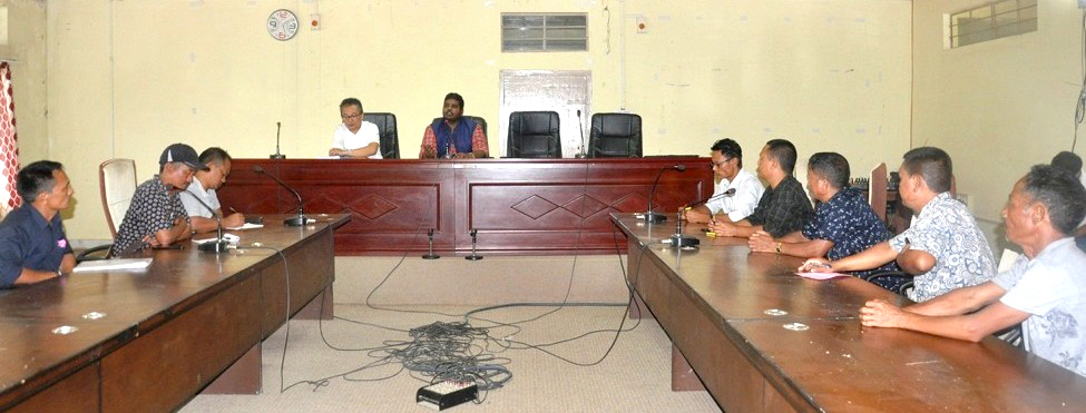 DC & District Election Officer, Mon Thavaseelan K, IAS addressing the meeting held with all the political parties of Mon District at DC Conference Hall, Mon on August 13. (DIPR Photo)