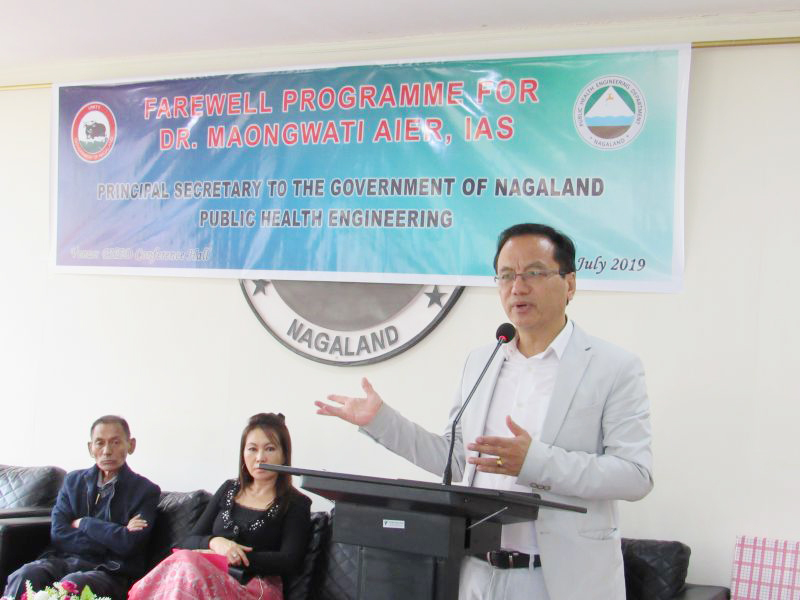 PHED Nagaland bids farewell to Dr Maongwati Aier