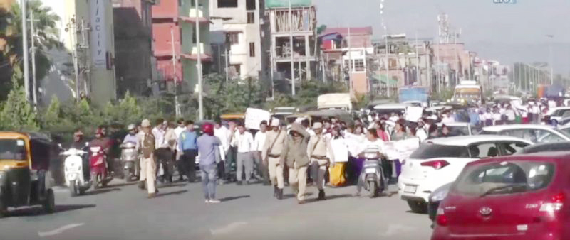 Manipur: Mass protest against CAB resumes