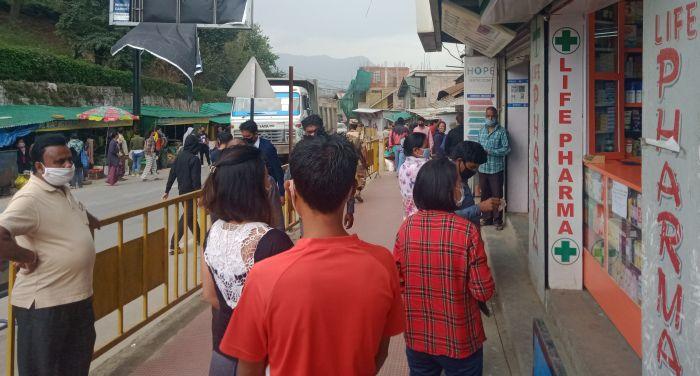 Heavy rush in Kohima post lockdown easing