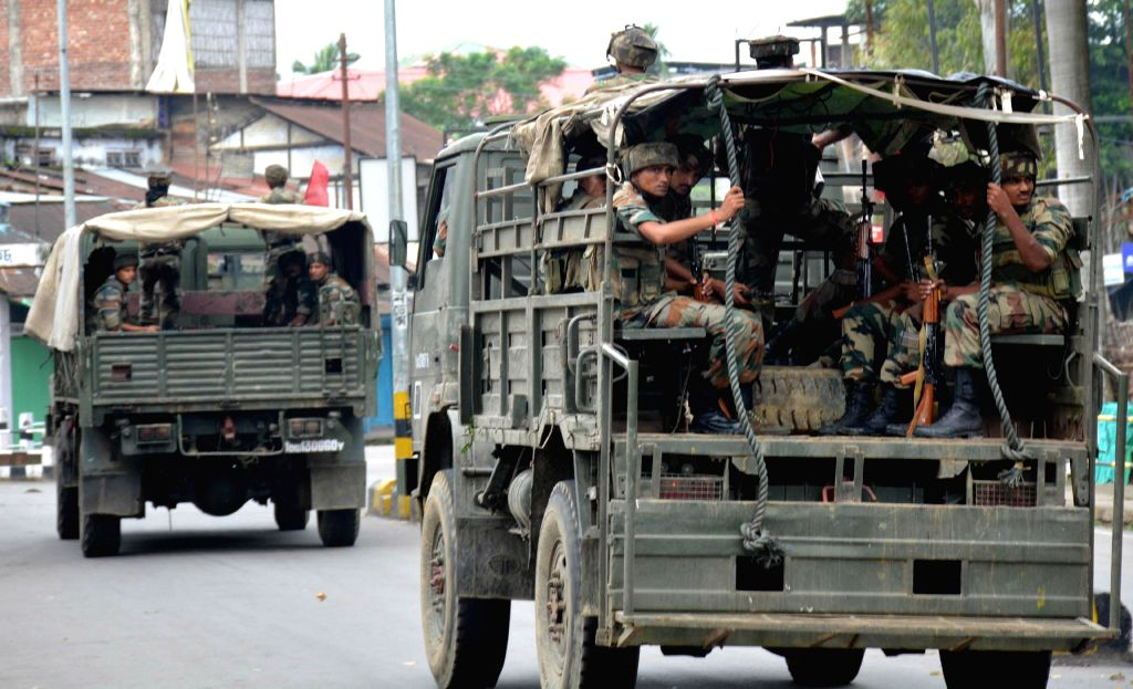 8 columns of Indian Army deployed in Assam, Tripura