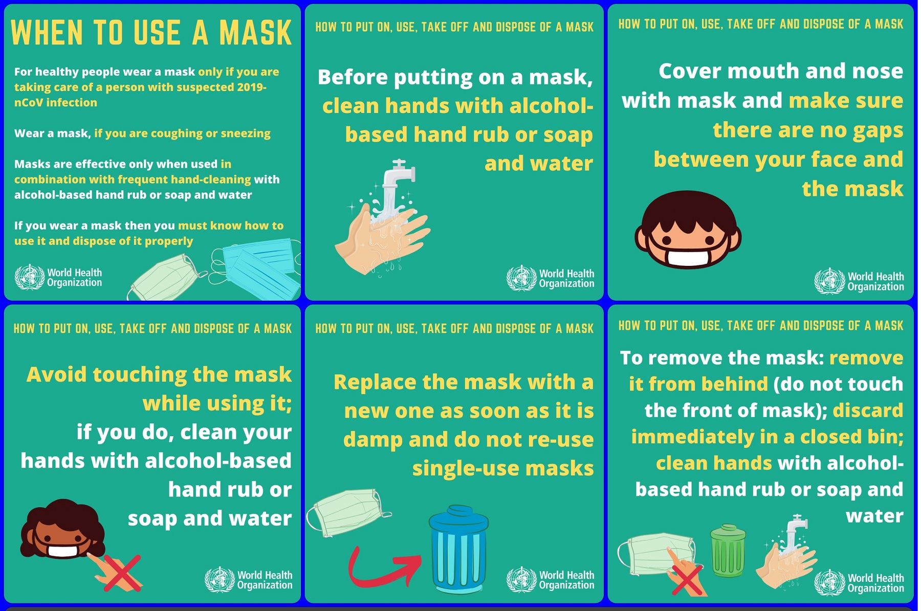 COVID-19: WHO's advice for public - When and how to use masks