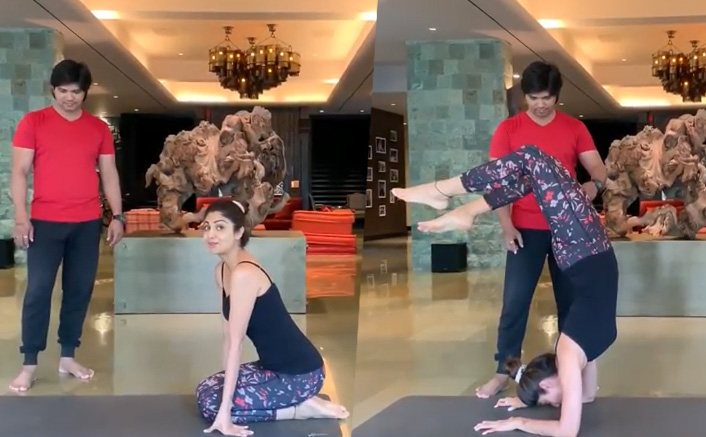 Shilpa Shetty nails Vrischikasana pose, sets fitness goals