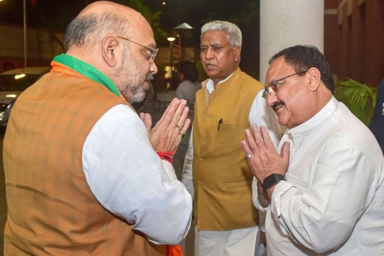 Nadda set to replace Shah as BJP chief on Monday