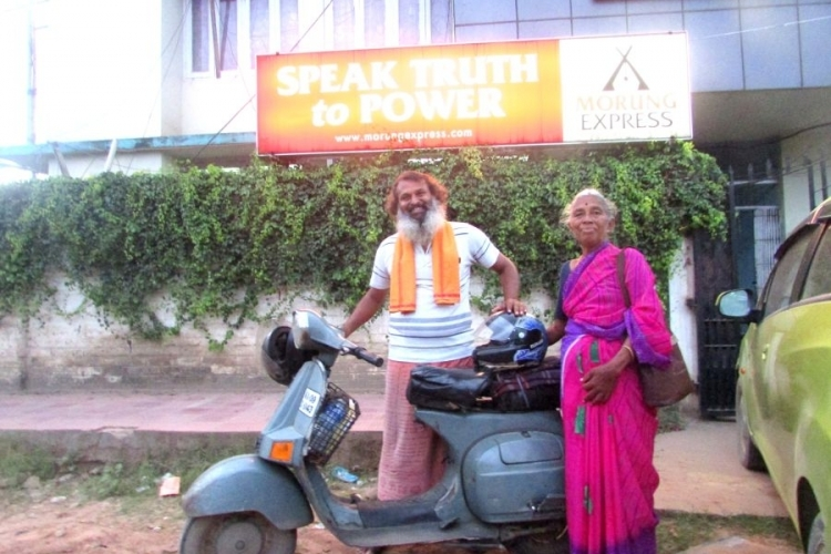 On a 20-year old scooter, mother-son duo  reach Nagaland as part of their pilgrimage
