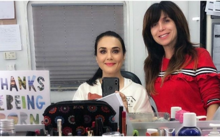 Preity Zinta shooting for American sitcom 'Fresh Off The Boat'