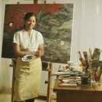 Reflections of farmers' suicides, widows in Kota Neelima's paintings