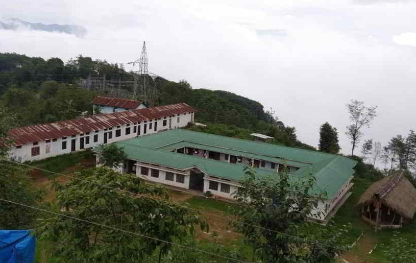 A view of Sao Chang College, a quarantine centre for returnees in Tuensang which was declared a containment zone on May 27. (Morung Photo by Special Arrangement)