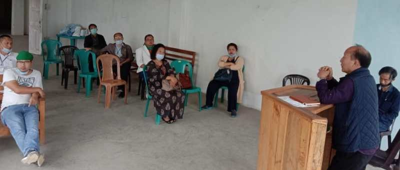 Members of the Tuensang District Doctors Forum attending the meeting held at the Conference Hall District Hospital, Tuensang on May 22.