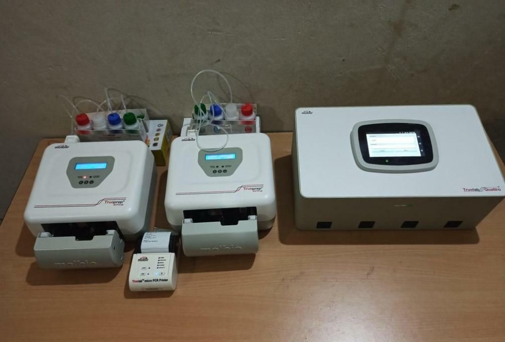 The first batch of TrueNat machines which were installed at District Hospital, Dimapur, the designated COVID-19 Hospital for the district on June 5. More such machines would be installed in other districts later, informed Nagaland Health and Family Welfare Minister, S Pangnyu Phom in a tweet on June 5. (Photo Courtesy: @pangnyu / Twitter)