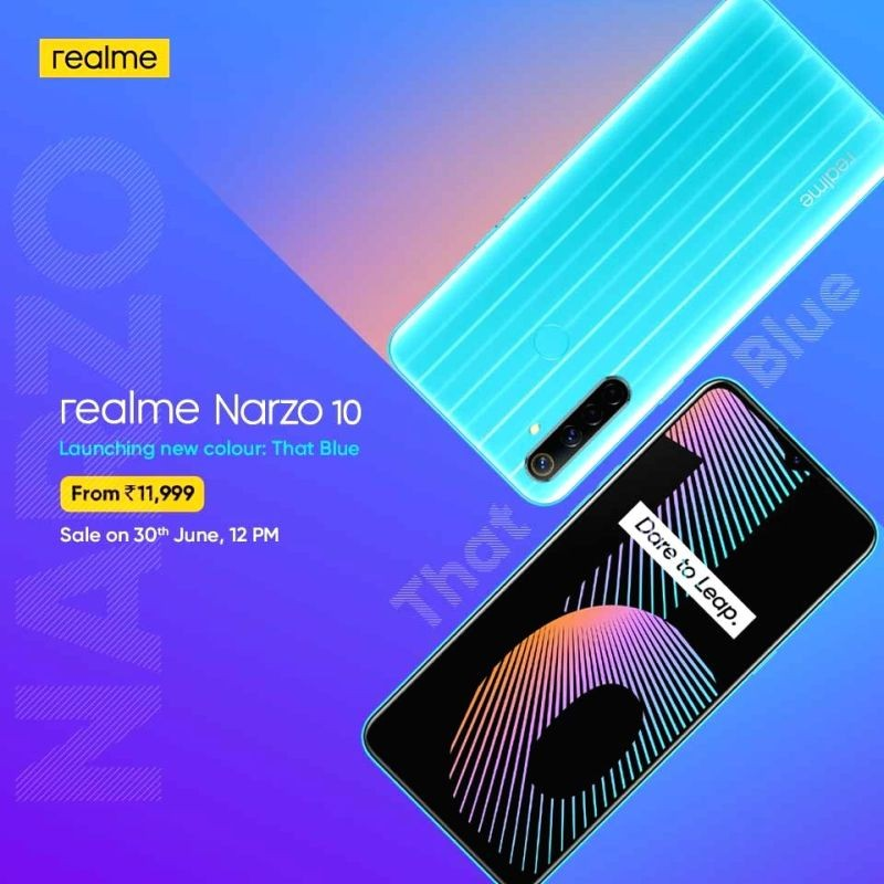 Realme Narzo 10 'That Blue' colour option launched in India. (IANS Photo)