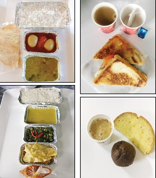 Samples of food prepared for returnees to be served in quarantine centres. (Morung Photo)