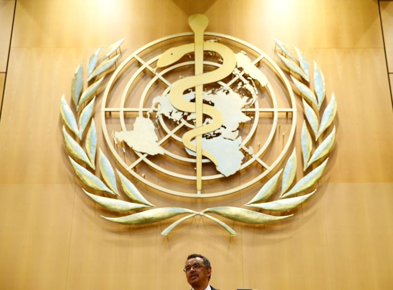 Newly elected Director General of the World Health Organization (WHO) Tedros Adhanom Ghebreyesus delivers a speech during the 70th World Health Assembly in Geneva, Switzerland on May 23, 2017. (REUTERS File Photo)