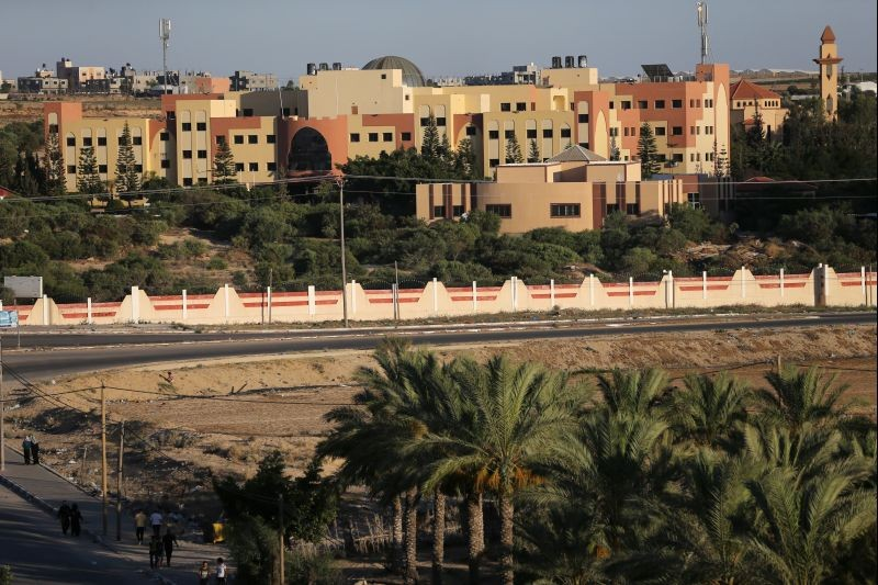A view shows a university built on the lands of a former Jewish settlement, in the southern Gaza Strip on June 24, 2020. (REUTERS Photo)