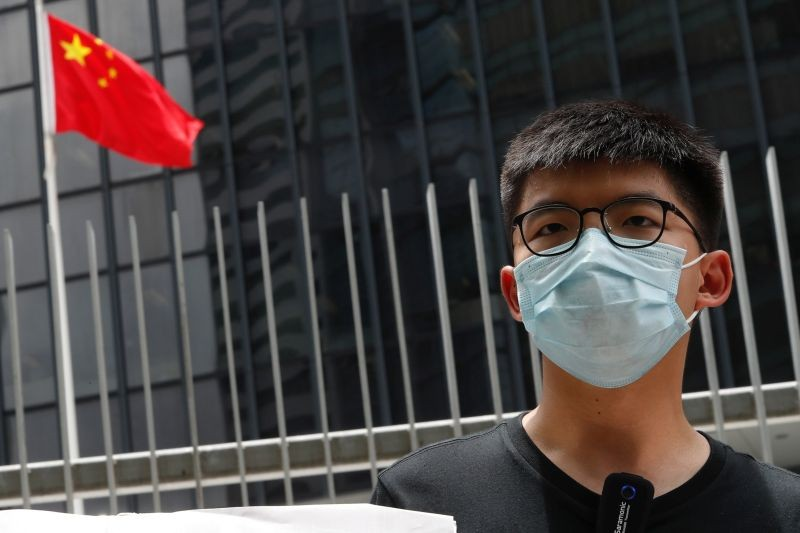 Pro-democracy activist Joshua Wong speaks to the media in response to the national security legislation in Hong Kong, China on June 3, 2020. (REUTERS File Photo)
