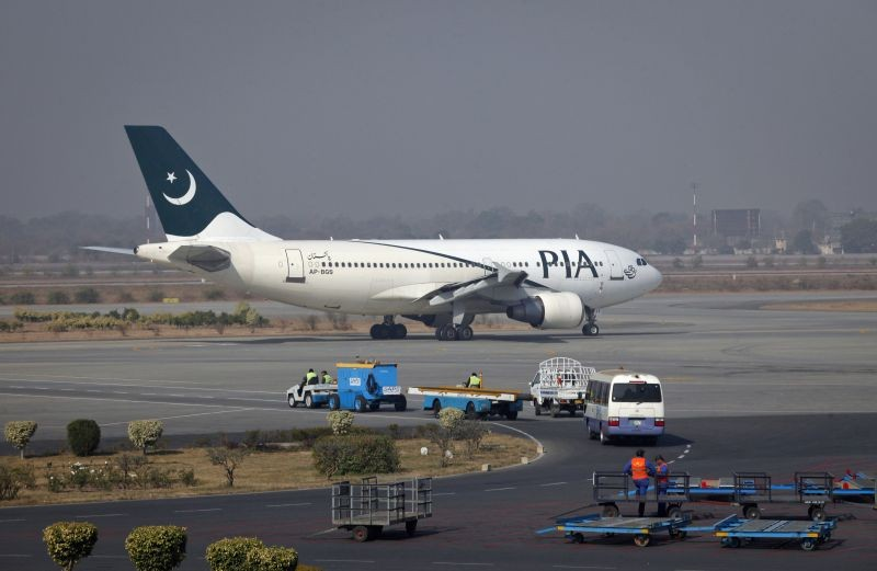 A Pakistan International Airlines (PIA) plane prepares to take-off at Alama Iqbal International Airport in Lahore. REUTERS/ File Photo)