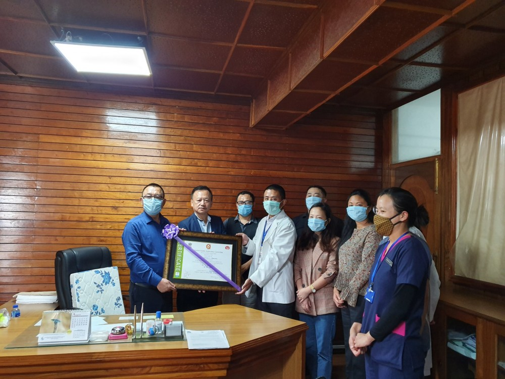 UPHC, Seikhazou is 'first fully quality certified' public health facilities in North-East, Nagaland H&FW Minister informs on June 30. (Photo Courtesy: @pangnyu / Twitter)