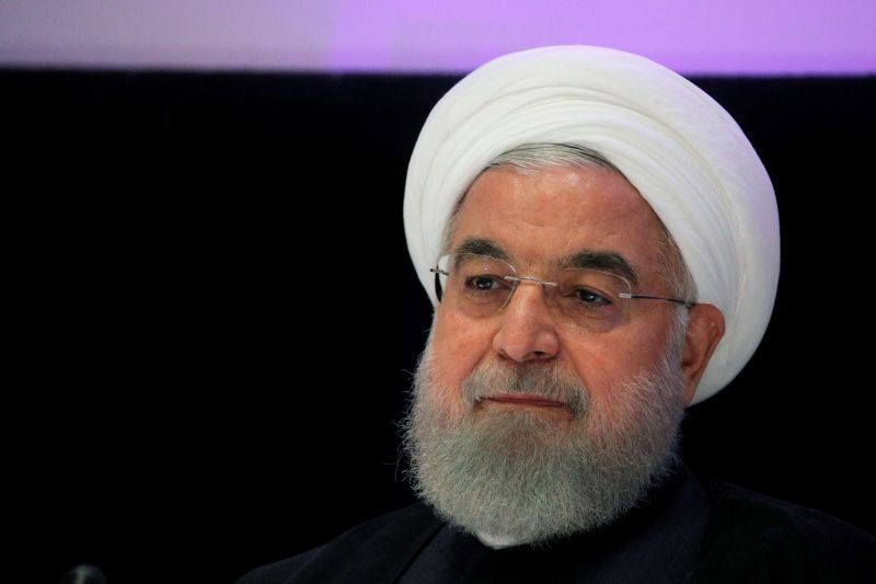 Iranian President Hassan Rouhani speaks at a news conference on the sidelines of the United Nations General Assembly in New York, US on September 26, 2019. (REUTERS File Photo)