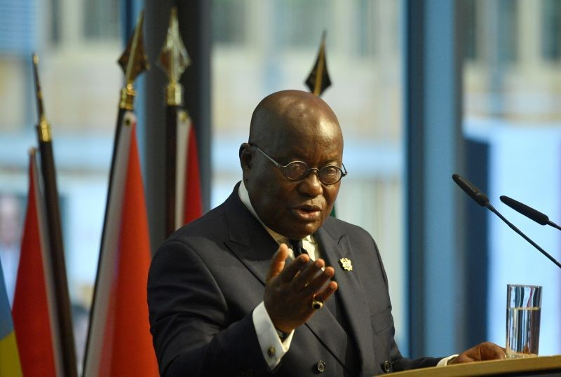 "Ghana's President Nana Akufo-Addo addresses participants of the ""G20 Investment Summit - German Business and the CwA Countries 2019"" on the sidelines of a Compact with Africa (CwA) in Berlin , Germany on November 19, 2019. (REUTERS File Photo)"