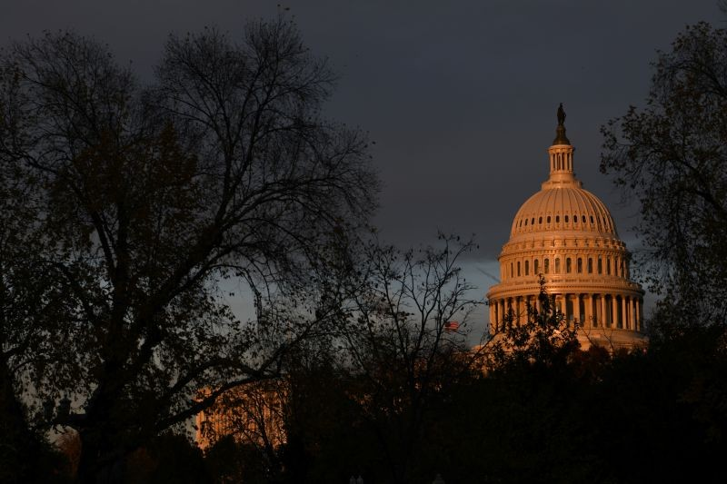 The U.S. Capitol building is pictured at sunset on Capitol Hill in Washington, US on November 22, 2019. (REUTERS File Photo)