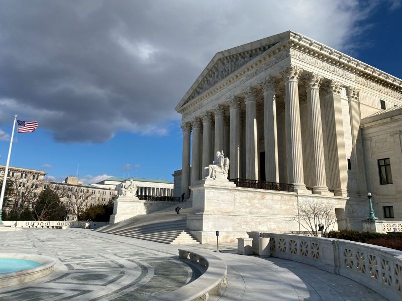 The U.S. Supreme Court building is seen in Washington, US on January 21, 2020.  (REUTERS File Photo)