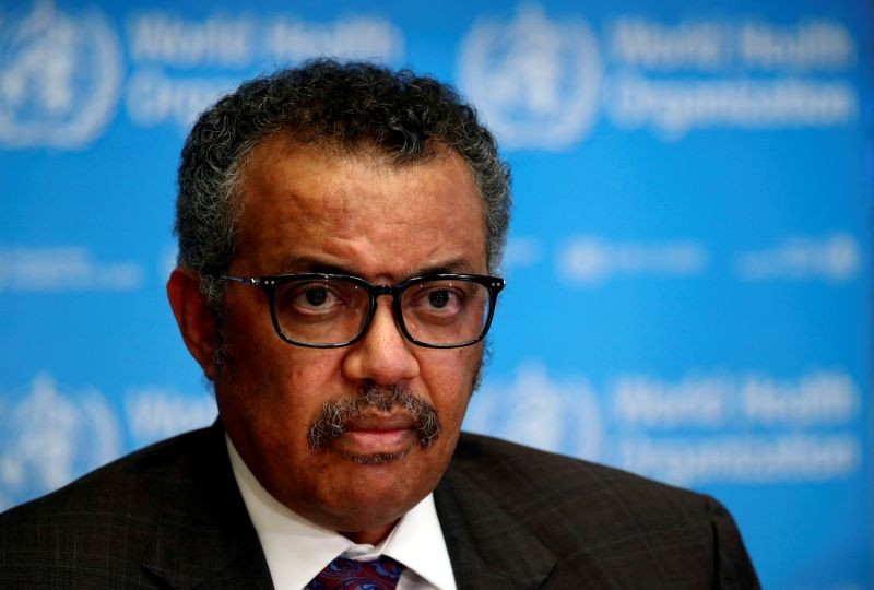 Director General of the World Health Organization (WHO) Tedros Adhanom Ghebreyesus attends a news conference on the situation of the coronavirus (COVID-2019), in Geneva, Switzerland on February 28, 2020. (REUTERS File Photo)
