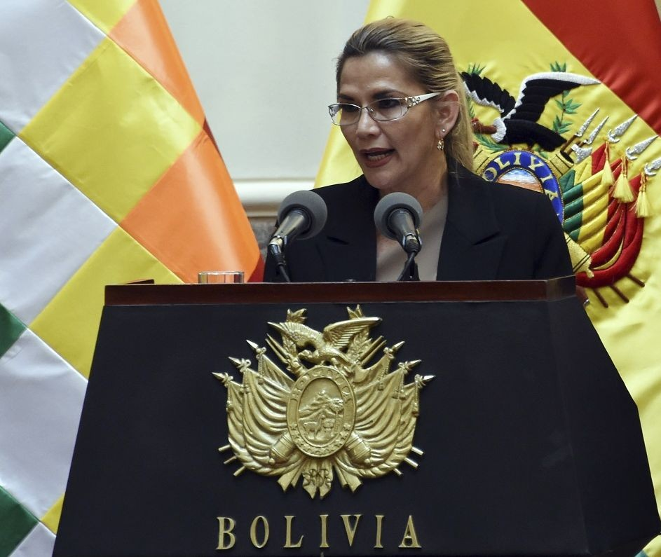 Bolivia's interim president Jeanine Anez (Photo: AFP)