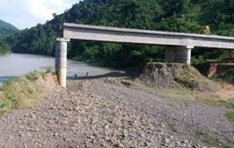A file photo of ongoing construction of Doyang bridge, a key link in the long awaited Trans-Nagaland Expressway – erstwhile known as the Nagaland Foothills Road Project. The bridge is said to be 70 percent complete after 5 and half years of construction. (File Photo: For Representational Purposes Only)