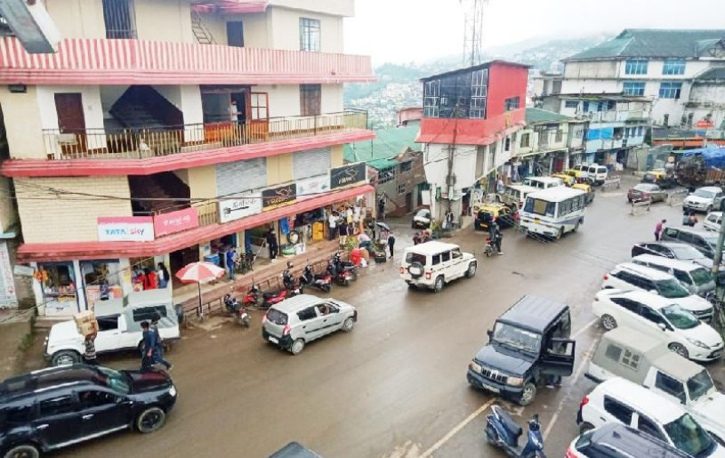 A view of Kohima Town. The Deputy Commissioner of the State capital has recommended imposition of total lockdown for one week in Kohima's municipal areas. (Morung Photo)