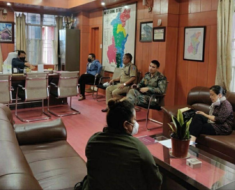 Kohima District Task Force meeting held in Kohima on July 13. ( DIPR Photo)