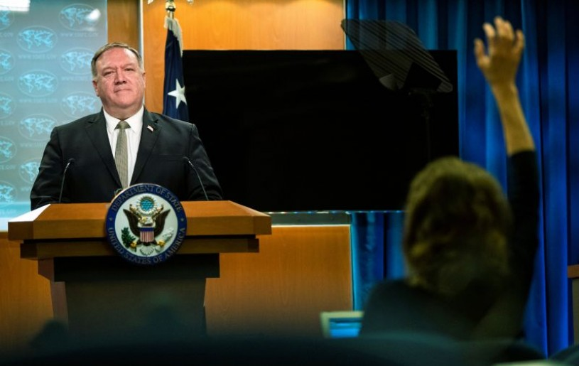 U.S. Secretary of State Mike Pompeo speaks during a news conference at the State Department in Washington, U.S., July 1, 2020. Manuel Balce Ceneta/Pool via REUTERS/File photo