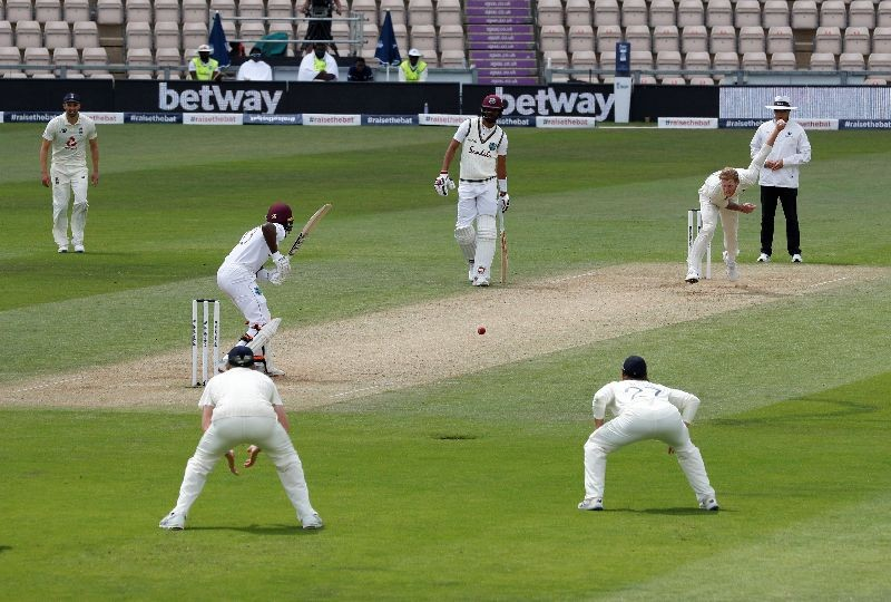 Cricket - First Test - England v West Indies - Rose Bowl Cricket Stadium, Southampton, Britain - July 10, 2020   England's Ben Stokes in action, as play resumes behind closed doors following the outbreak of the coronavirus disease (COVID-19)   Adrian Dennis/Pool via REUTERS