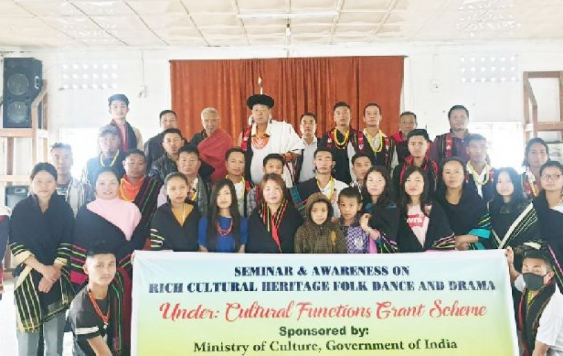 Participants of the 'Rich cultural heritage - folk dance and drama' seminar organised by the Vikehie Welfare Society, Viswema  from July 10 to 12.