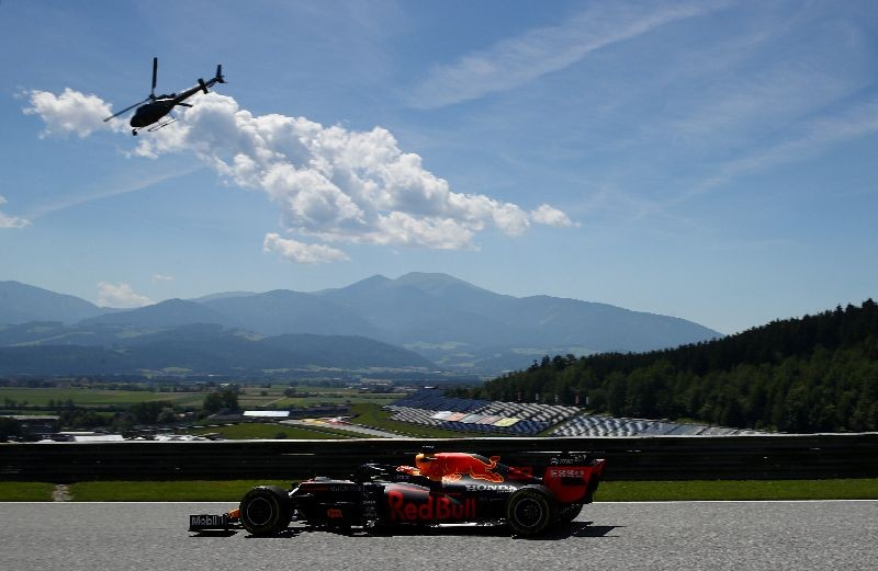 Formula One F1 - Steiermark Grand Prix - Red Bull Ring, Spielberg, Styria, Austria - July 10, 2020   Red Bull's Max Verstappen during practice, following the resumption of F1 after the outbreak of the coronavirus disease (COVID-19)    Mark Thompson/Pool via REUTERS