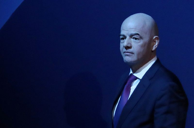 Soccer Football - UEFA Congress - Beurs van Berlage Conference Centre, Amsterdam, Netherlands - March 3, 2020   FIFA President Gianni Infantino after his speech during the UEFA Congress   REUTERS/Yves Herman/File Photo