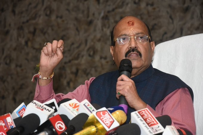 Amar Singh. (IANS File Photo)