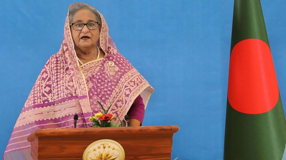Prime Minister Sheikh Hasina was virtually addressing the general debate at the 75th United Nations General Assembly on September 26, 2020. Photo: PID