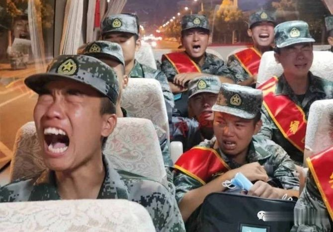 A screen grab from the video which allegedly shows PLA troops crying. Photograph: @waynescene/Twitter