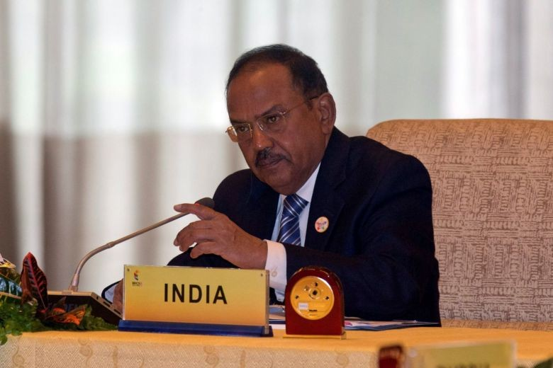Indian National Security Adviser Ajit Doval at a meeting at the Diaoyutai state guesthouse in Beijing on July 28, 2017.PHOTO: REUTERS