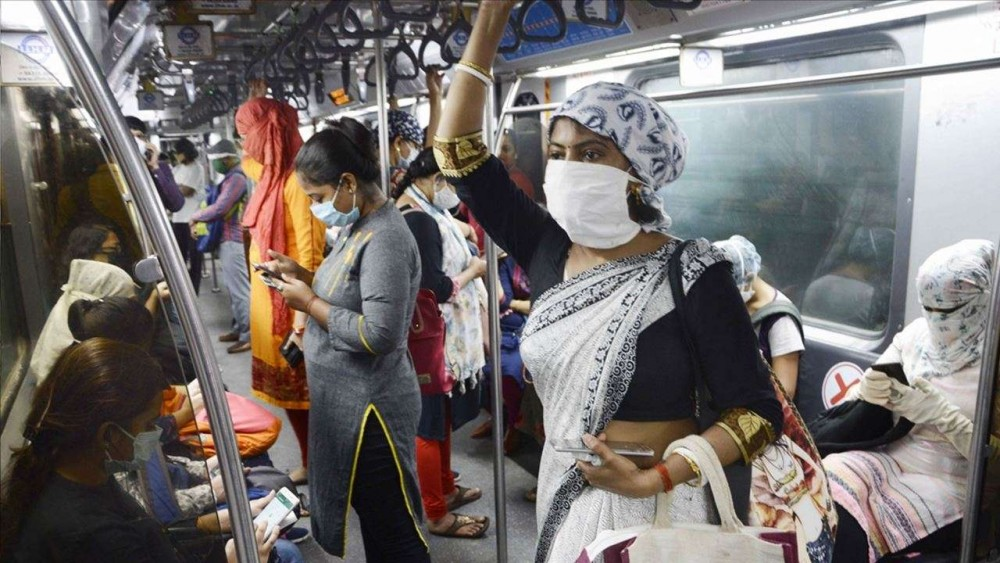 Kolkata: People wearing face masks and face shields travel in a metro amid the COVID-19 pandemic, in Kolkata on Sep 25, 2020. (Photo: IANS)